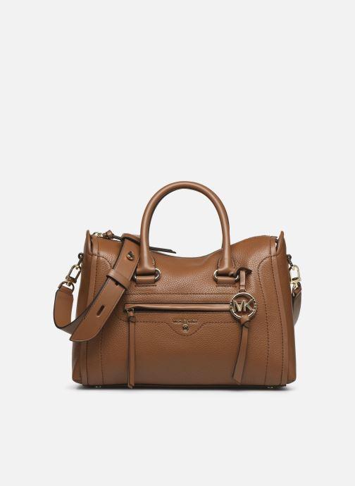 Handtaschen Michael Michael Kors CARINA SATCHEL braun detaillierte ansicht/modell