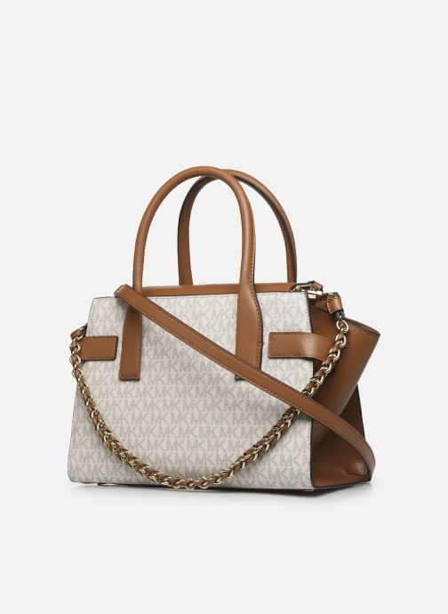 Handbags Michael Michael Kors CARMEN SATCHEL Beige view from the right