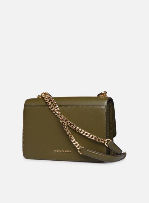 Bolsos de mano Michael Michael Kors JADE SHOULDER BAG Verde vista lateral derecha