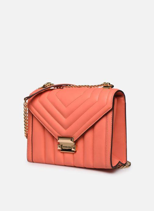Borse Michael Michael Kors WHITNEY LG SHLDR Arancione modello indossato