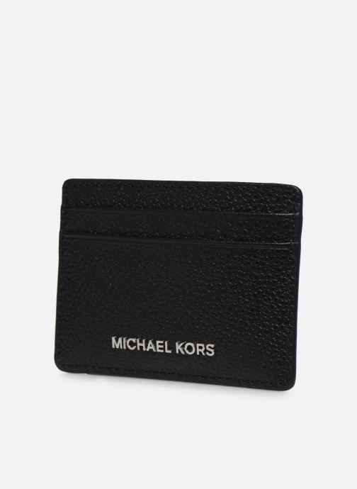 Pelletteria Michael Michael Kors JET SET  CARD HOLDER Nero modello indossato