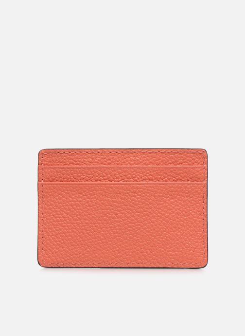 Marroquinería pequeña Michael Michael Kors JET SET  CARD HOLDER Naranja vista de frente