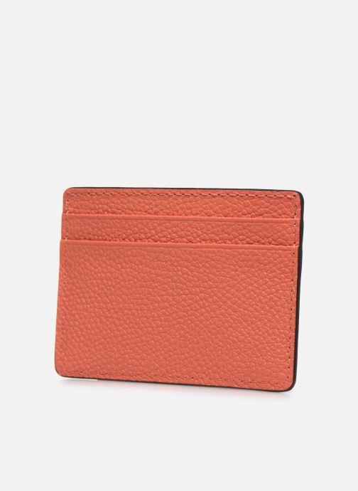 Marroquinería pequeña Michael Michael Kors JET SET  CARD HOLDER Naranja vista lateral derecha