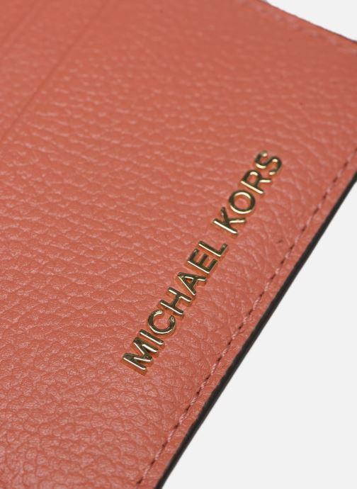 Marroquinería pequeña Michael Michael Kors JET SET  CARD HOLDER Naranja vista lateral izquierda