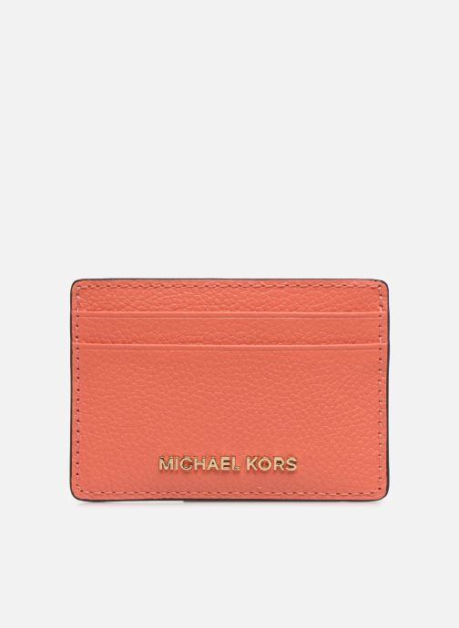 Marroquinería pequeña Michael Michael Kors JET SET  CARD HOLDER Naranja vista de detalle / par