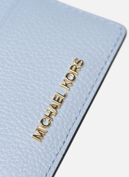 Wallets & cases Michael Michael Kors JET SET  CARD HOLDER Blue view from the left