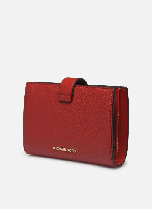 Pelletteria Michael Michael Kors MK CHARM MONEY PIECE Rosso modello indossato
