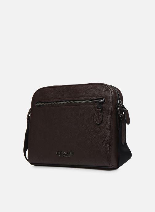 Herrentaschen Coach Metropolitan Soft Camera Bag Crew braun schuhe getragen