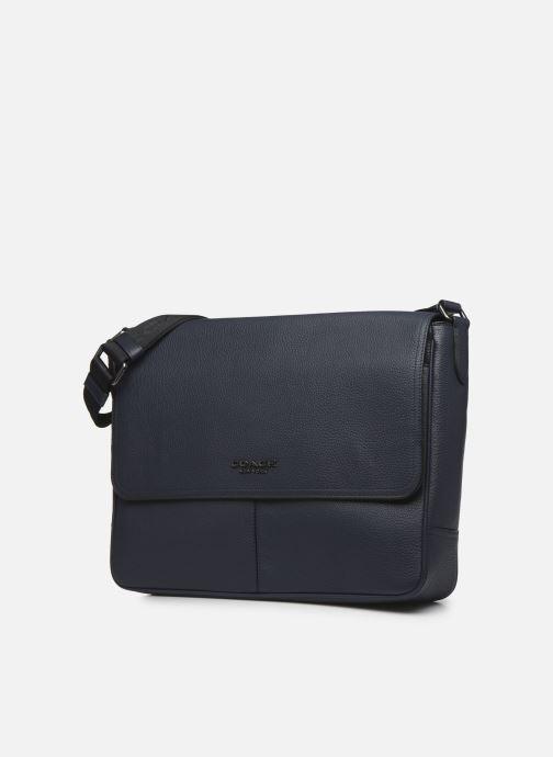 Herrentaschen Coach Metropolitan Soft Courier Cew blau schuhe getragen