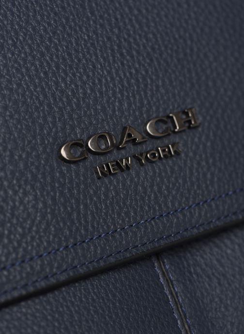 Herrentaschen Coach Metropolitan Soft Courier Cew blau ansicht von links