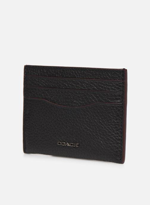 Portemonnaies & Clutches Coach Card Case In Pebble Leather schwarz schuhe getragen