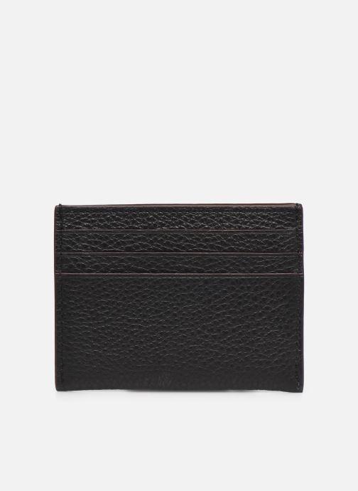 Portemonnaies & Clutches Coach Card Case In Pebble Leather schwarz ansicht von vorne