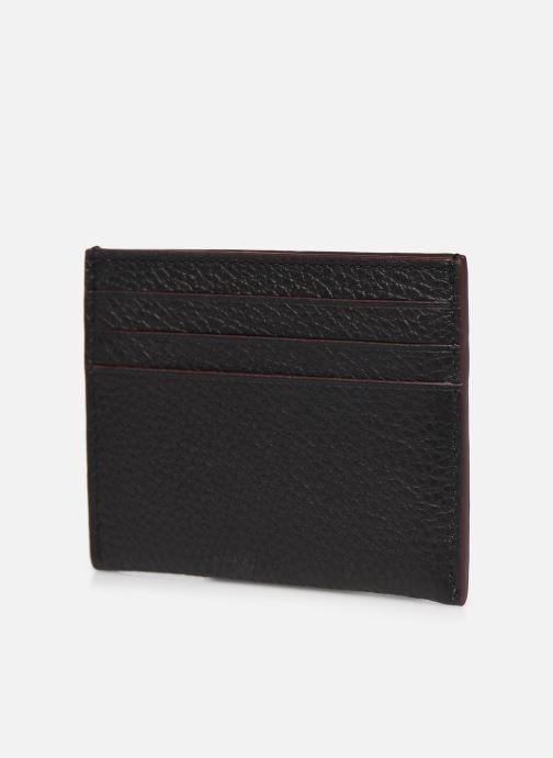 Portemonnaies & Clutches Coach Card Case In Pebble Leather schwarz ansicht von rechts