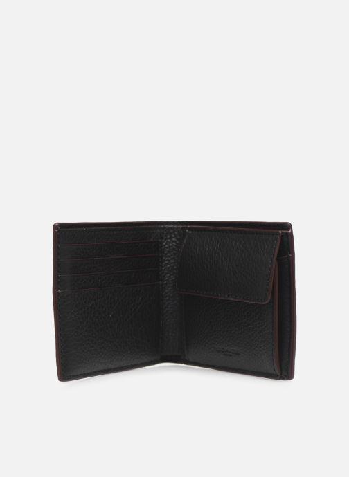 Petite Maroquinerie Coach Coin Wallet In Pebble Leather Noir vue derrière