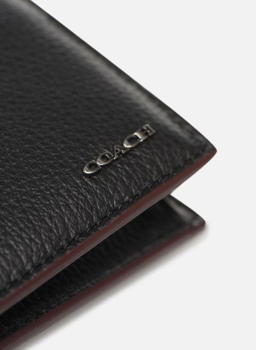 Petite Maroquinerie Coach Coin Wallet In Pebble Leather Noir vue gauche