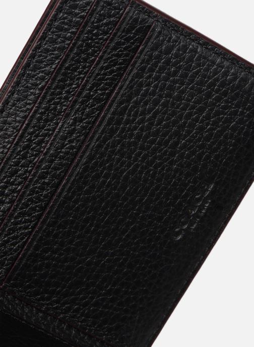 Petite Maroquinerie Coach Slim Bill In Pebble Leather Noir vue derrière
