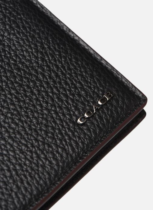 Petite Maroquinerie Coach Slim Bill In Pebble Leather Noir vue gauche