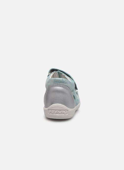 Sandalias Pepino Silvi Azul vista lateral derecha