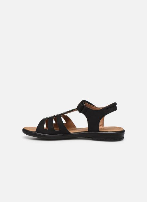 Sandales et nu-pieds Ricosta Ana Noir vue face