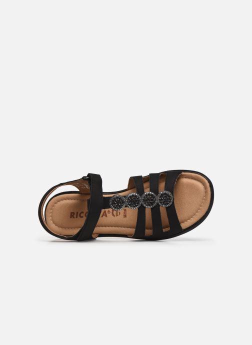 Sandales et nu-pieds Ricosta Ana Noir vue gauche