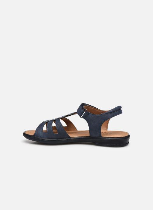 Sandales et nu-pieds Ricosta Ana Bleu vue face