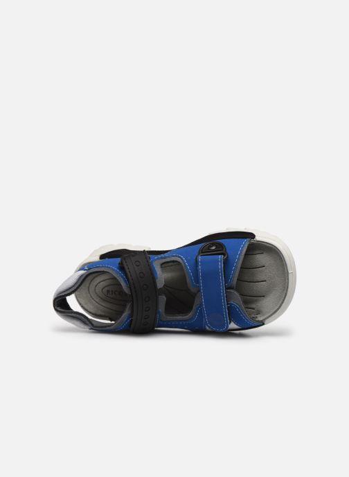 Sandalias Ricosta Soccer Azul vista lateral izquierda