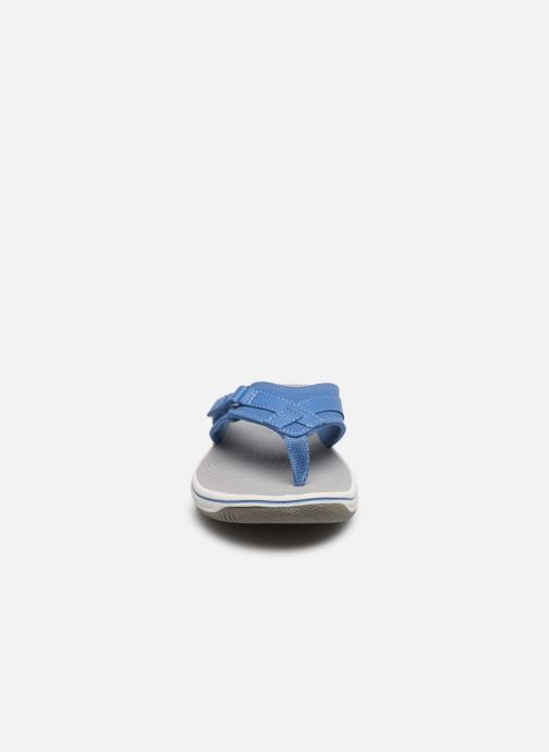 Infradito Cloudsteppers by Clarks Brinkley Sea Azzurro modello indossato