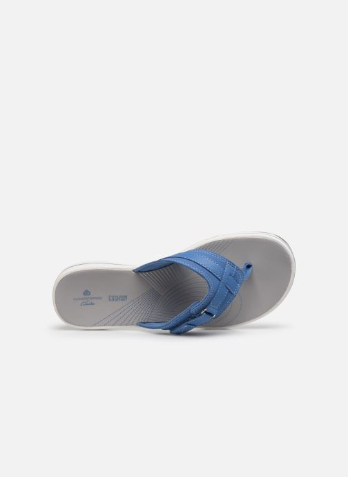 Infradito Cloudsteppers by Clarks Brinkley Sea Azzurro immagine sinistra
