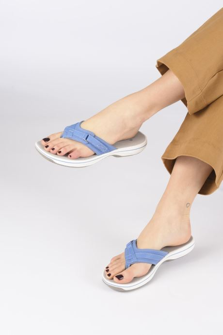 Chanclas Cloudsteppers by Clarks Brinkley Sea Negro vista de abajo