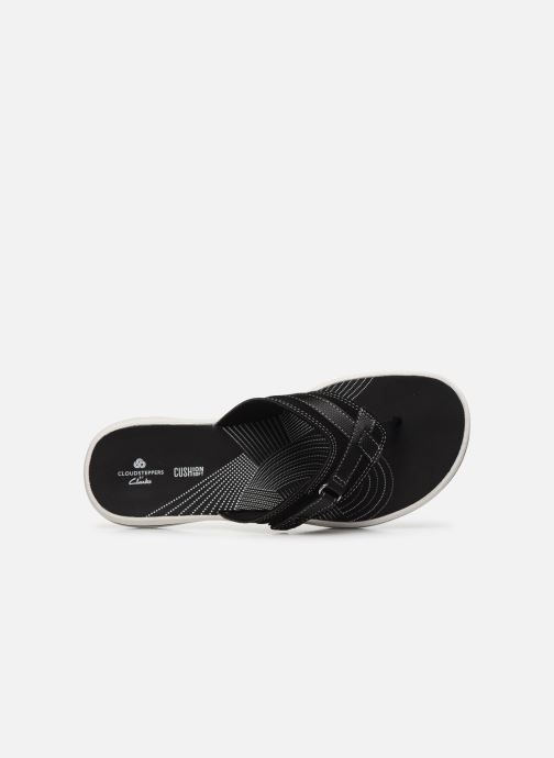 Zehensandalen Cloudsteppers by Clarks Brinkley Sea schwarz ansicht von links