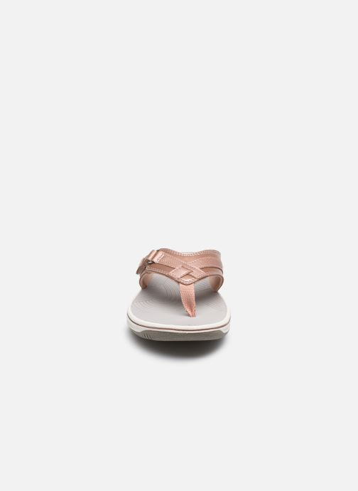 Tongs Cloudsteppers by Clarks Brinkley Sea Rose vue portées chaussures
