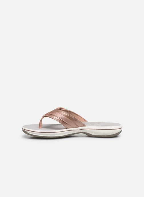 Tongs Cloudsteppers by Clarks Brinkley Sea Rose vue face