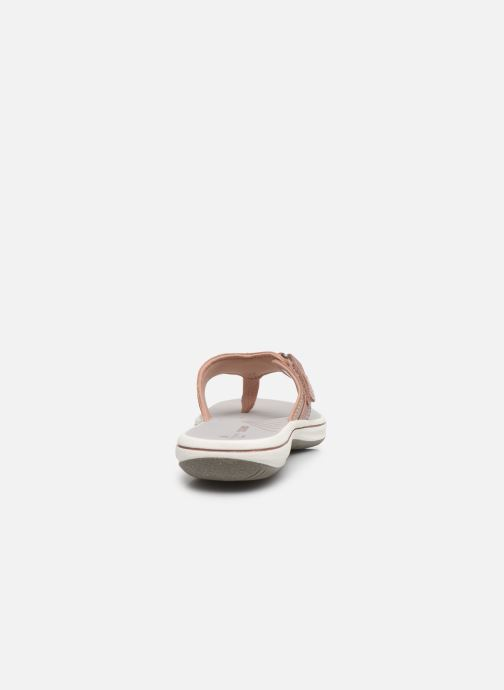 Flip flops Cloudsteppers by Clarks Brinkley Sea Pink view from the right