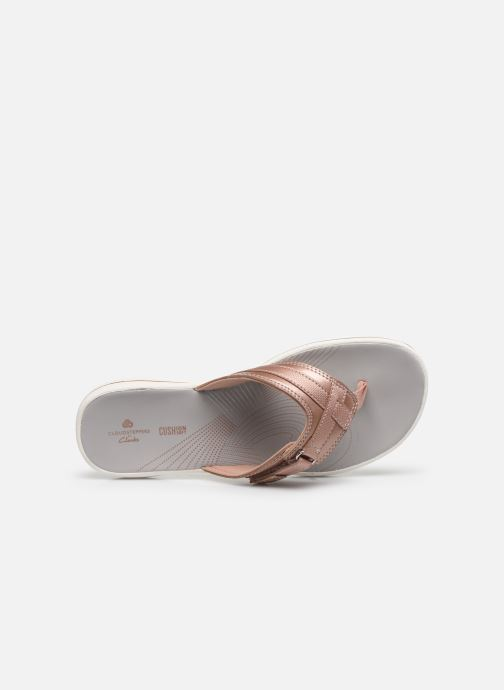 Flip flops Cloudsteppers by Clarks Brinkley Sea Pink view from the left
