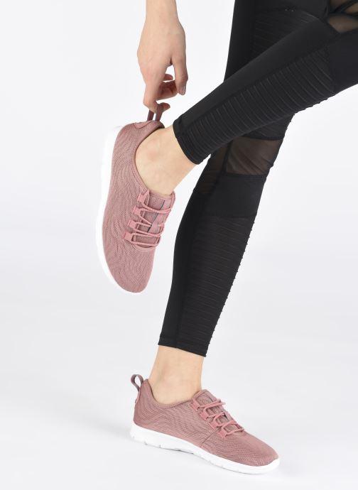 Sneaker Cloudsteppers by Clarks Step Allena Go rosa ansicht von unten / tasche getragen
