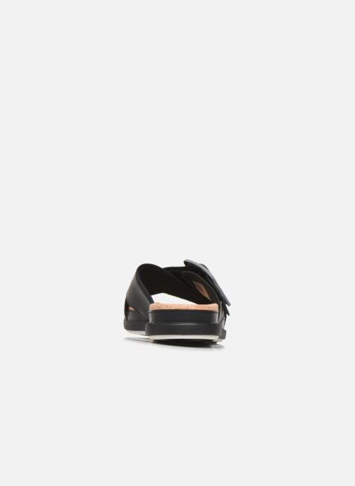 Zuecos Cloudsteppers by Clarks Step JuneShell Negro vista lateral derecha