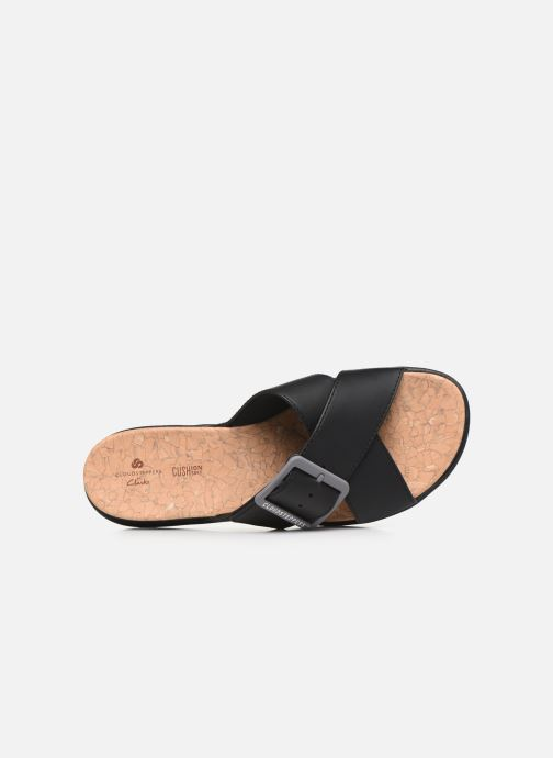 Zoccoli Cloudsteppers by Clarks Step JuneShell Nero immagine sinistra