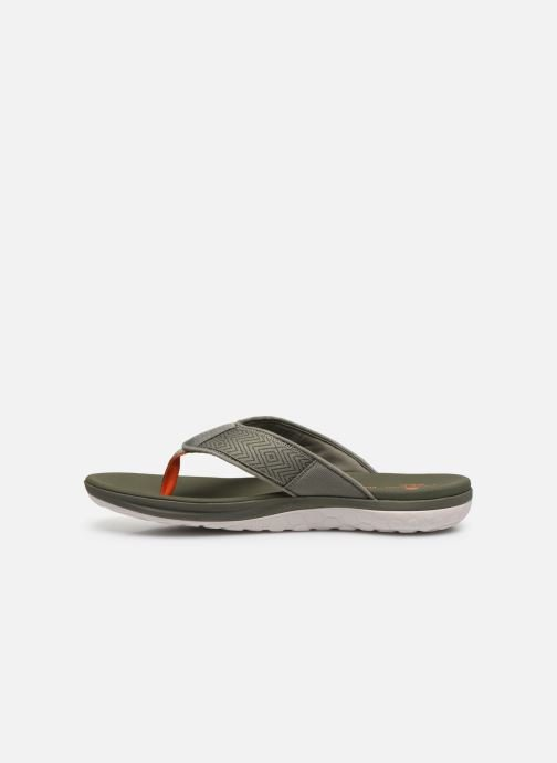Infradito Cloudsteppers by Clarks Step Beat Dune Verde immagine frontale