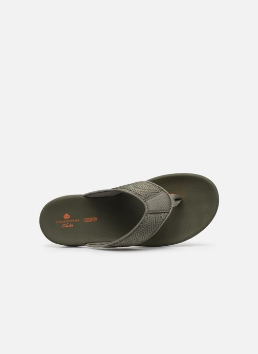 Chanclas Cloudsteppers by Clarks Step Beat Dune Verde vista lateral izquierda
