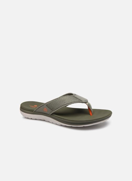 Tongs Cloudsteppers by Clarks Step Beat Dune Vert vue détail/paire