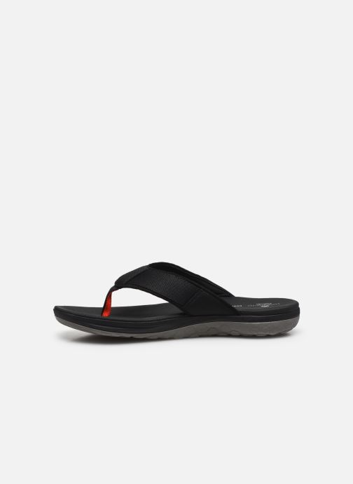 Tongs Cloudsteppers by Clarks Step Beat Dune Noir vue face