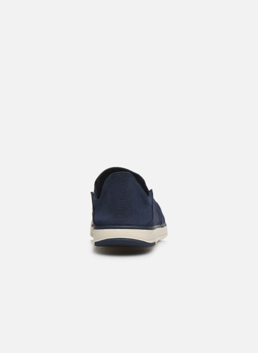 Deportivas Cloudsteppers by Clarks Step Isle Row Azul vista lateral derecha