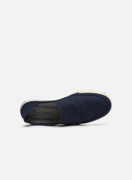 Baskets Cloudsteppers by Clarks Step Isle Row Bleu vue gauche