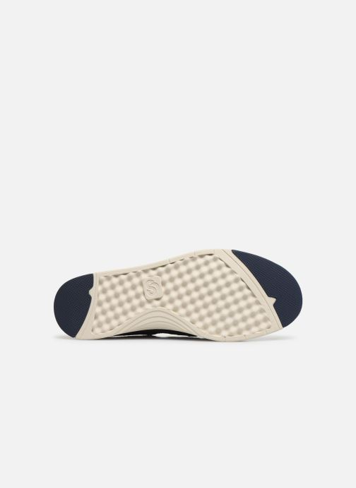 Baskets Cloudsteppers by Clarks Step Isle Row Bleu vue haut
