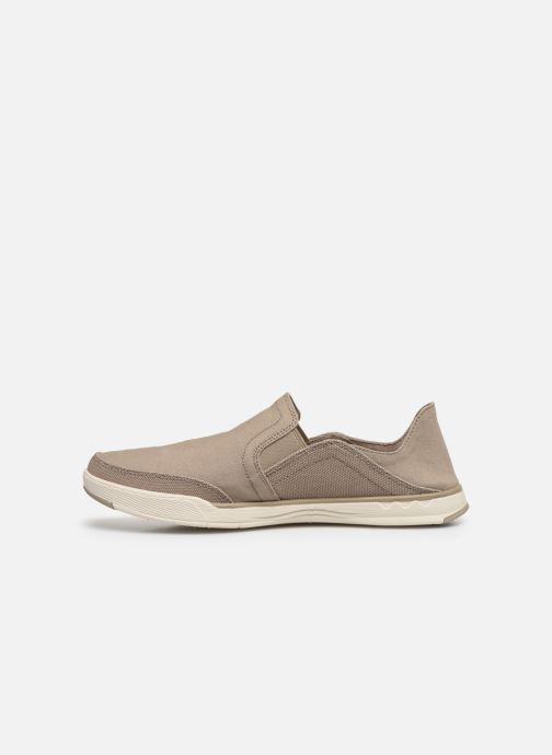 Baskets Cloudsteppers by Clarks Step Isle Row Beige vue face
