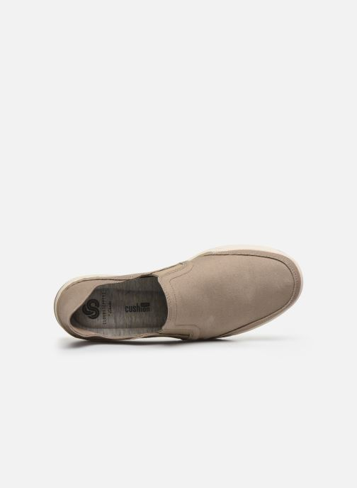 Baskets Cloudsteppers by Clarks Step Isle Row Beige vue gauche