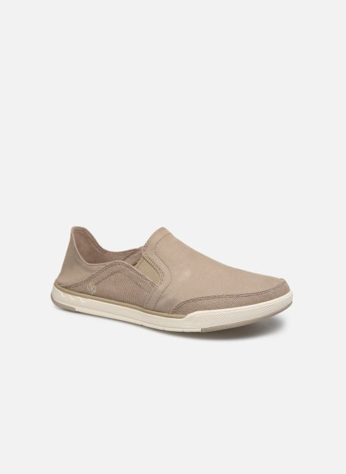 Baskets Cloudsteppers by Clarks Step Isle Row Beige vue détail/paire