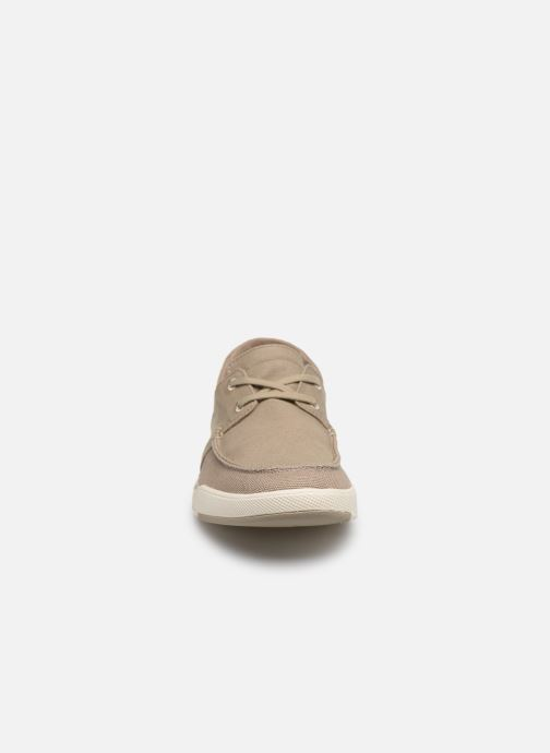 Baskets Cloudsteppers by Clarks Step Isle Base Beige vue portées chaussures