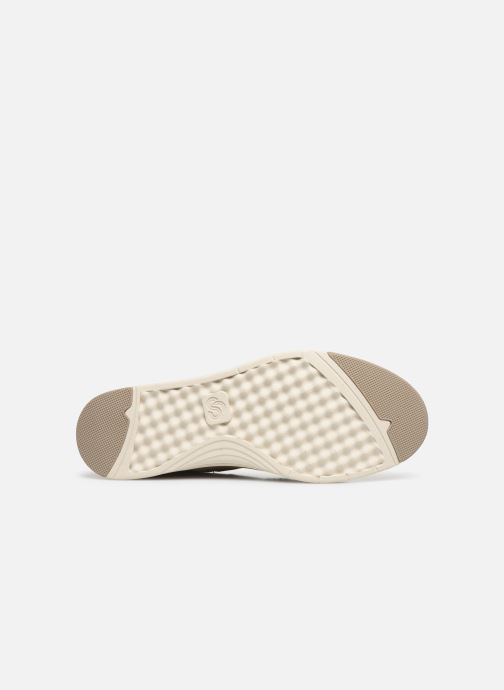 Baskets Cloudsteppers by Clarks Step Isle Base Beige vue haut