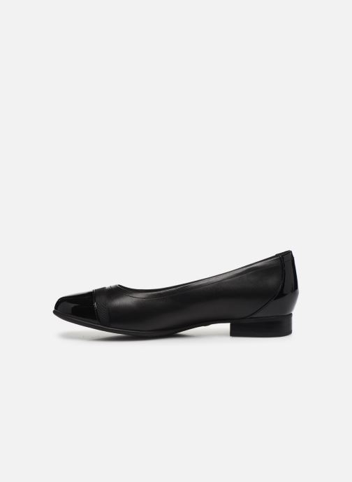 Bailarinas Clarks Unstructured Un Blush Cap2 Negro vista de frente